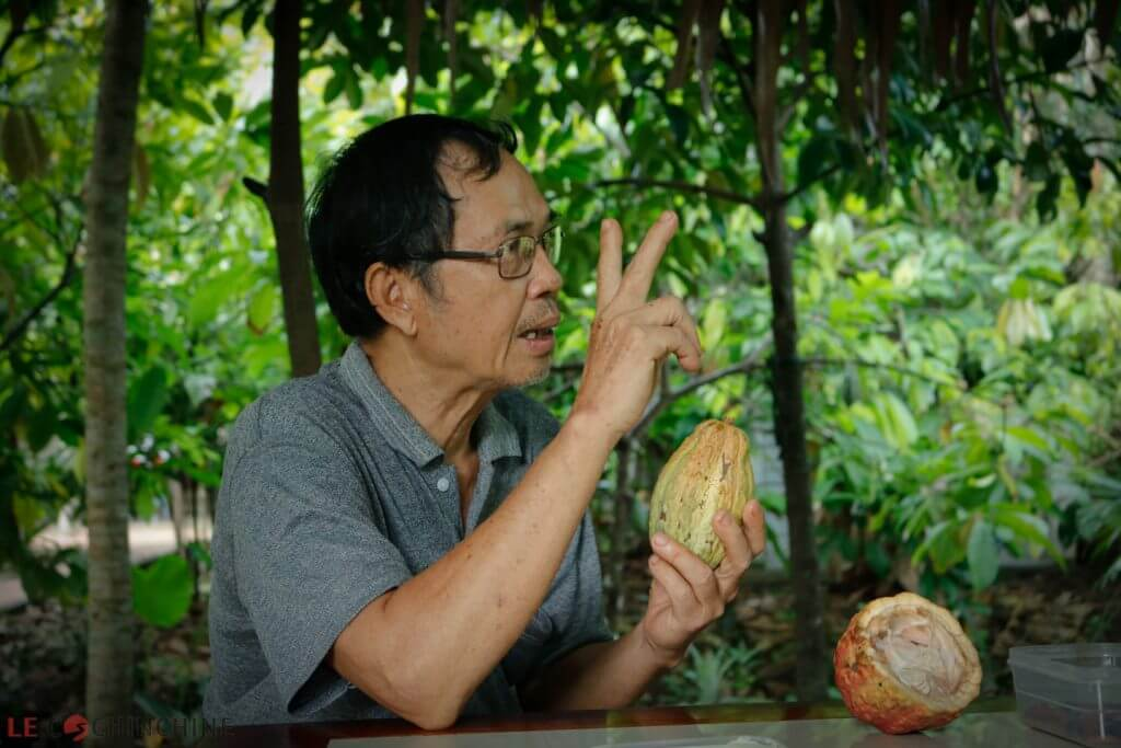 Cacao artisan in Mekong